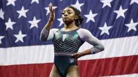 Simone Biles, en el campeonato de Estados Unidos