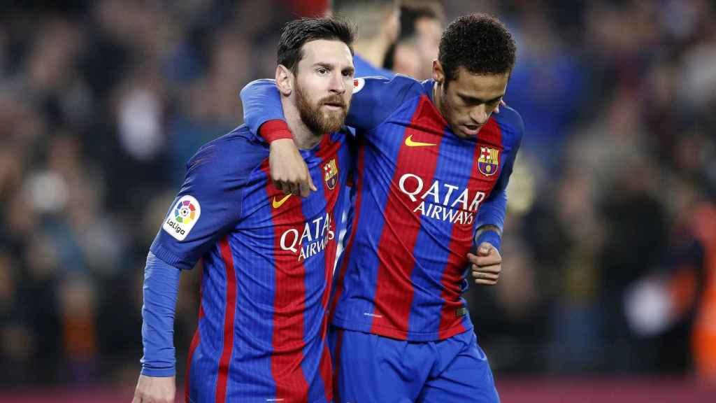 Messi y Neymar, en el Barcelona
