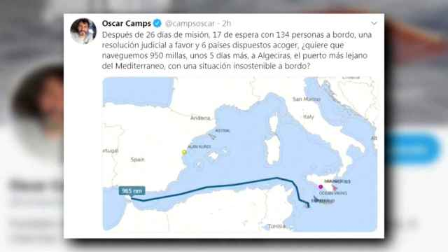 El Open Arms rechaza la oferta de desembarcar en Algeciras