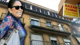 Isabel Pantoja en un montaje JALEOS.