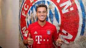 Philippe Coutinho con la camiseta del Bayern Múnich.