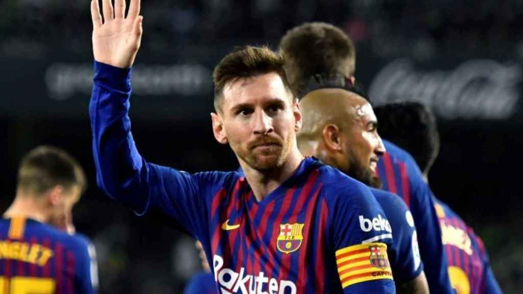 Messi, en un partido del Barcelona ante el Betis