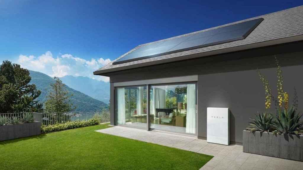Paneles solares de Tesla y batería