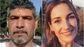 Laura Luelmo, derecha, fue asesinada por Bernardo Montoya, a la izquierda.