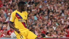 Dembélé, en el partido contra el Athletic
