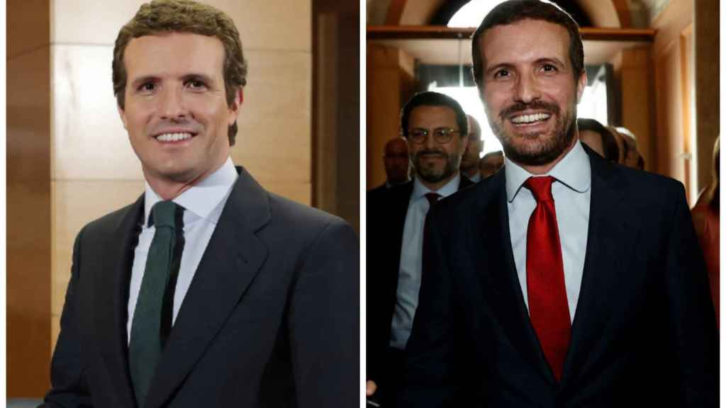 El antes y el después de Pablo Casado en montaje JALEOS.