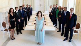 La primera reunión del Gobierno PP-Ciudadanos de Madrid, en 2019.
