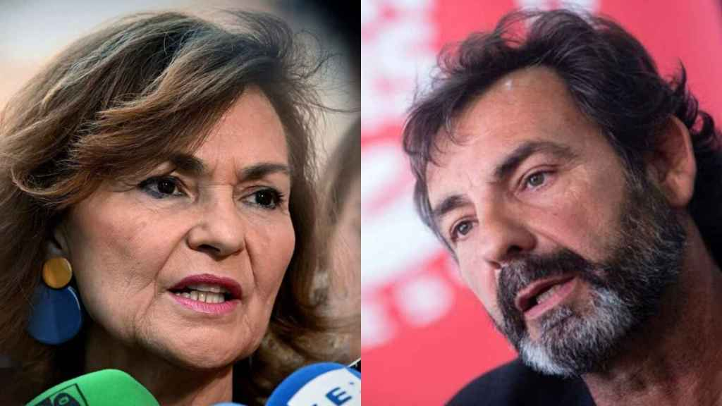 Carmen Calvo y Óscar Camps.