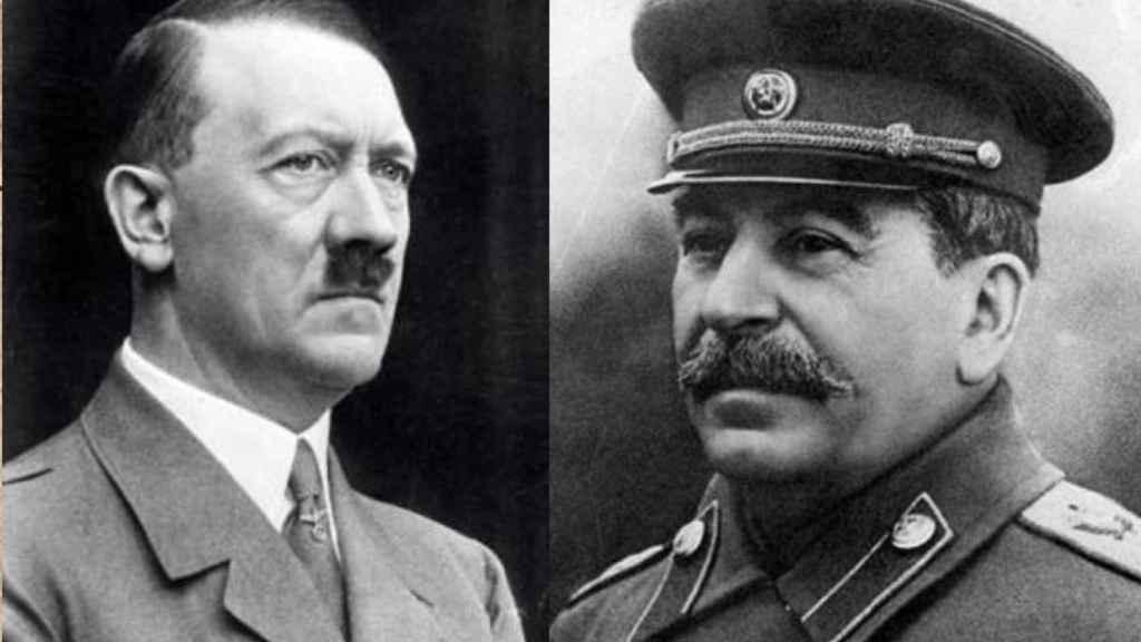 Adolf Hitler y Joseph Stalin.