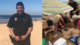 El subinspector Antonio Garrido fue acuchillado en la playa de Punta Umbría.