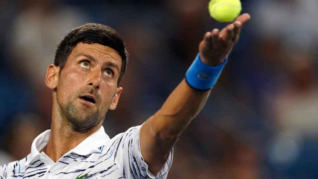 Djokovic, durante un partido en Cincinnati.