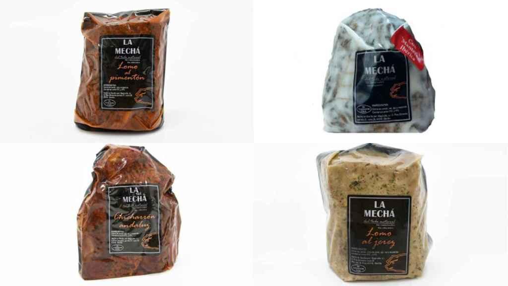 Los productos de 'La Mechá' que han sido retirados del mercado.