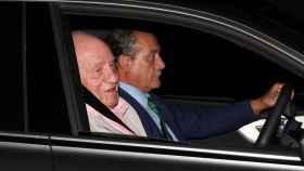 El rey emérito a su llegada al Hospital Universitario Quirónsalud de Pozuelo.