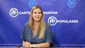Carolina Agudo durante la rueda de prensa. Foto: Óscar Huertas