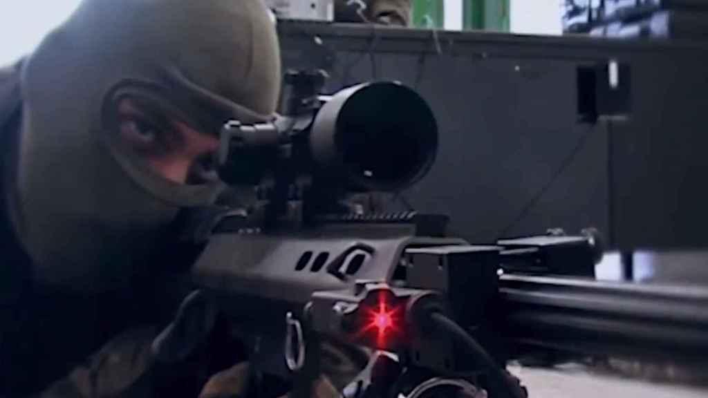 Tirador de precisión del Ejército de Tierra.