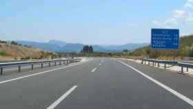 Autovía A-7 a su paso por el término de Ibi, Alicante.