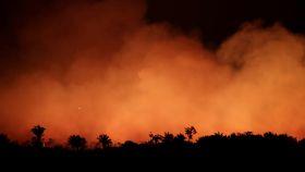 El fuego en la Amazonía.