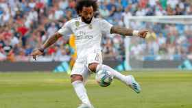 Marcelo, durante el Real Madrid - Valladolid de La Liga
