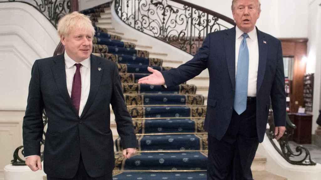 Boris Johnson y Donald Trump, durante la cumbre del G7 en Biarritz.