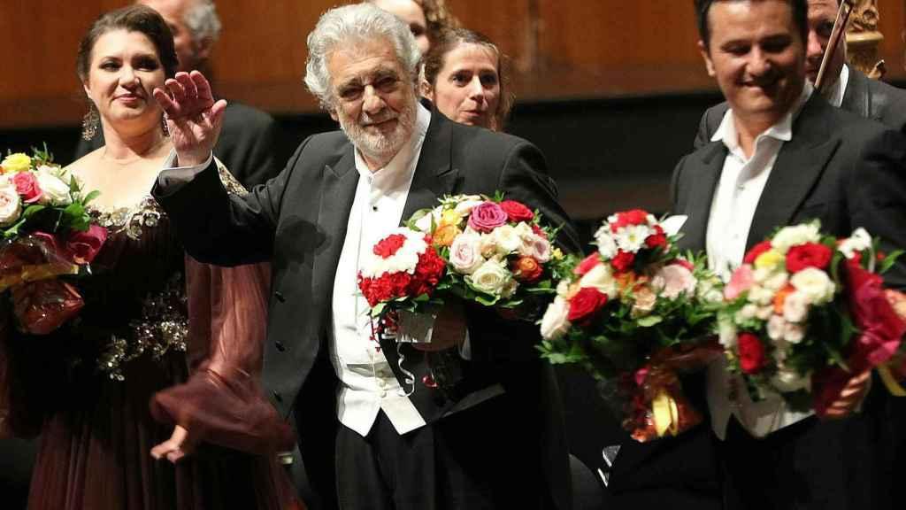 El tenor Plácido Domingo ha sido aplaudido, junto al resto del reparto, por parte del auditorio del Festival de Salzburgo.
