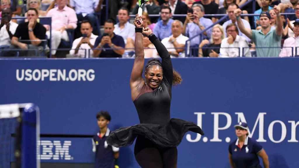 Serena Williams, en el US Open. Foto: usopen.org