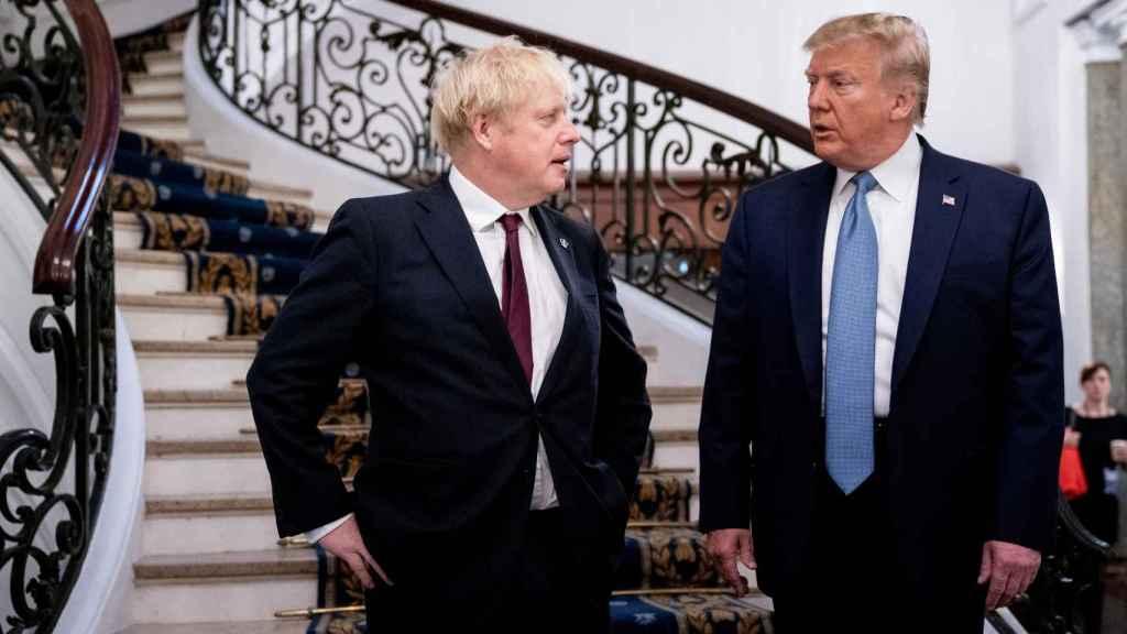 Primer encuentro de Trump y Johnson.