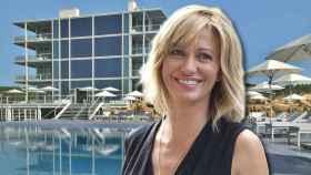Susanna Griso en un montaje en el hotel donde está de vacaciones.