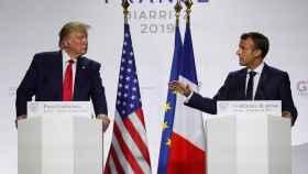 Trump y Macron en la rueda de prensa tras el G-7
