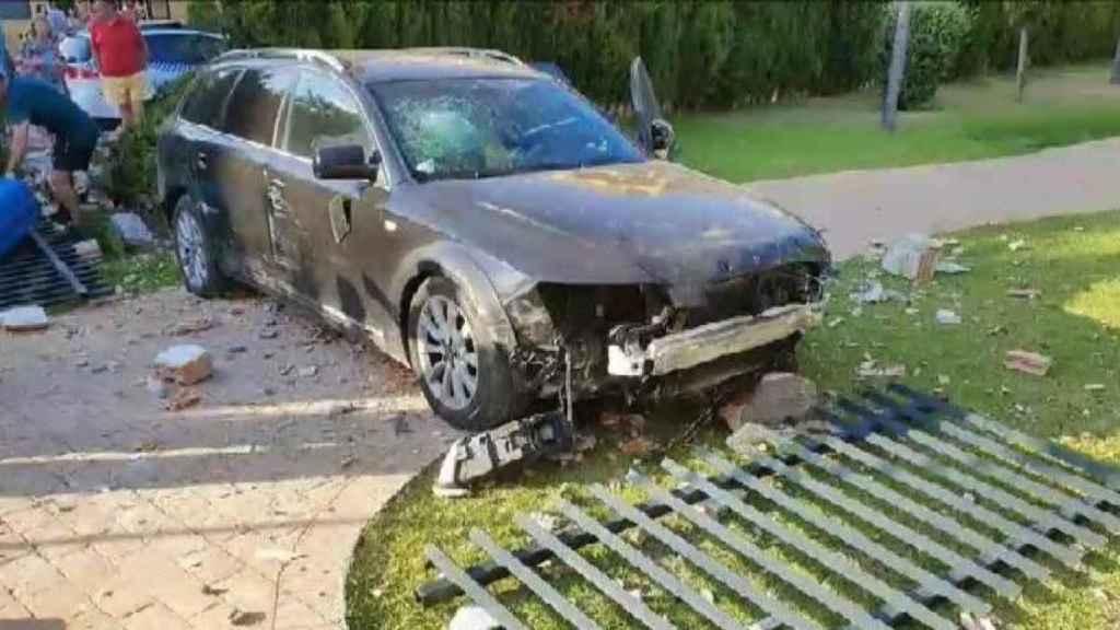 Así quedó el Audi después de la trastada del joven