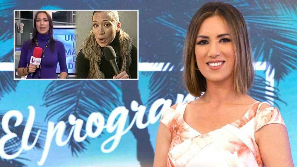 Patricia Pardo en una imagen de sus redes sociales junto a un montaje de Mediaset.