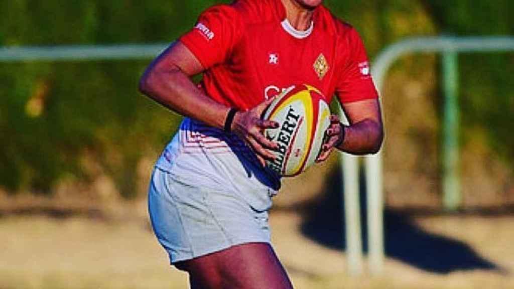 Eli Martínez, en un partido de rugby. Foto: Instagram (@eli_martinez_garcia)