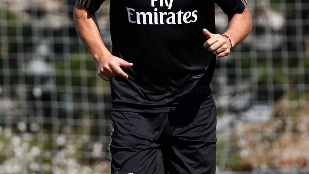 Hazard entrenando con el Real Madrid