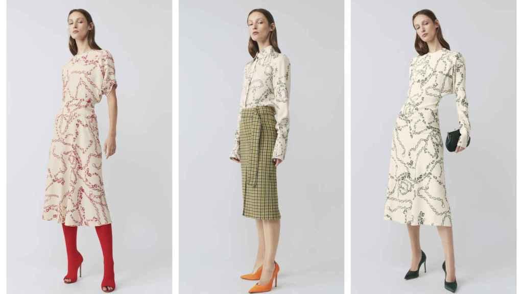 Montaje con los vestidos de Victoria Beckham, inspirados en el traje que lució en la boda de Sergio Ramos.