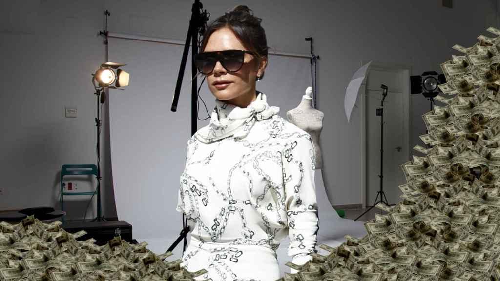 Victoria Beckham en un montaje de JALEOS.