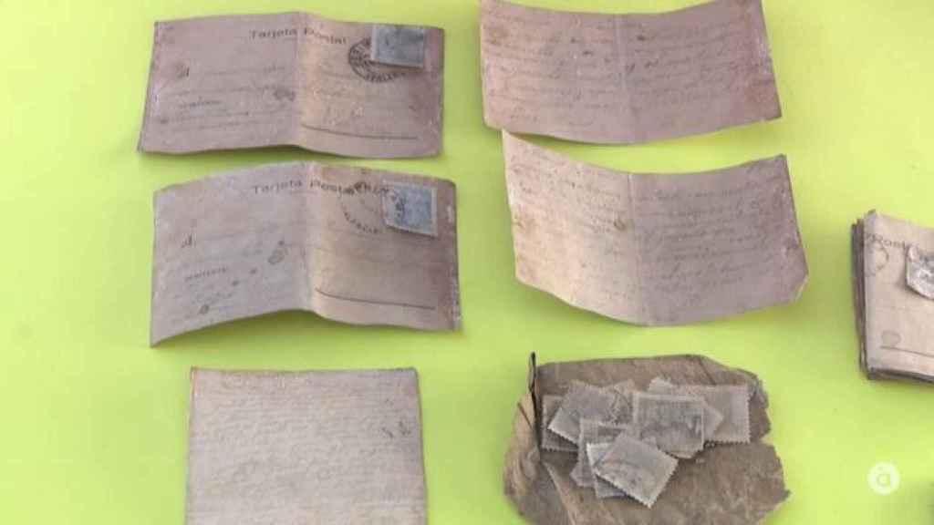 Estas son las cartas recuperadas durante la exhumación.