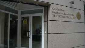Fachada del Colegio de Ingenieros Técnicos de Telecomunicaciones.
