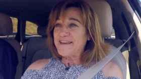 Blanca Fernández Ochoa, en el coche en el que desapareció.