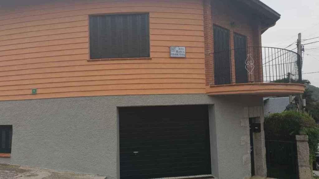 La calle con el nombre de Blanca en Cercedilla.