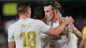Bale y Jovic celebran el gol del Real Madrid