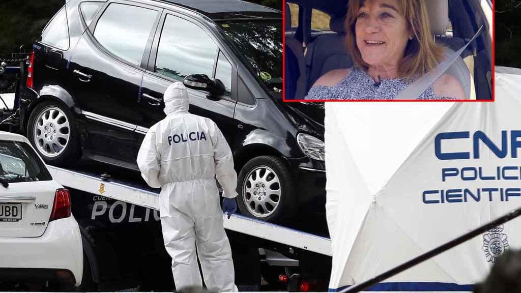 La Policía científica analiza el coche de Blanca Fernandez Ochoa.