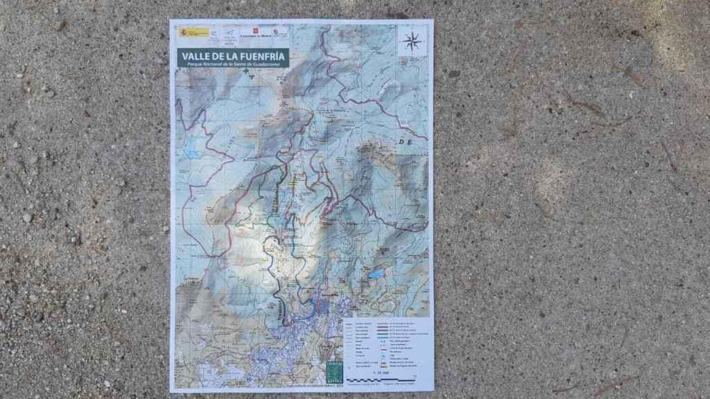 Mapa de las rutas que están utilizando las autoridades para batir el terreno.