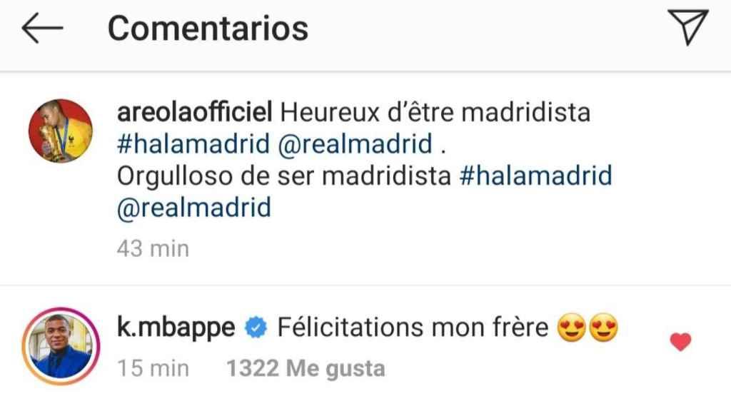 El mensaje de Mbappé a Areola