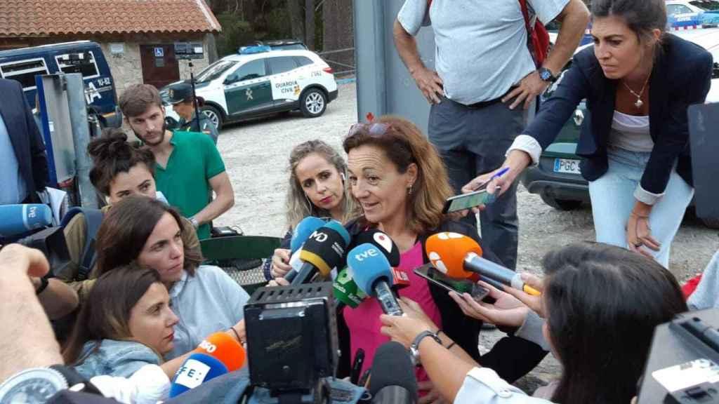 Lola Fernández Ochoa, hermana de Blanca, explica que la jornada del lunes ha sido desmoralizante.