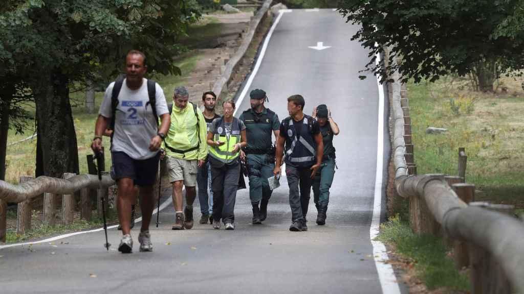 Más voluntarios desplegados por el monte de Cercedilla.