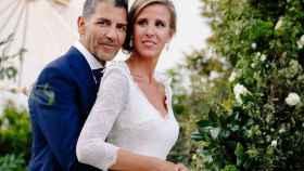 Paco Roncero y Nerea Ruano en una fotografía de su boda.