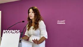 Noelia Vera, portavoz de la dirección de Podemos.