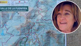 Mapa que usan las autoridades en la batida para encontrar a Blanca Fernández Ochoa.