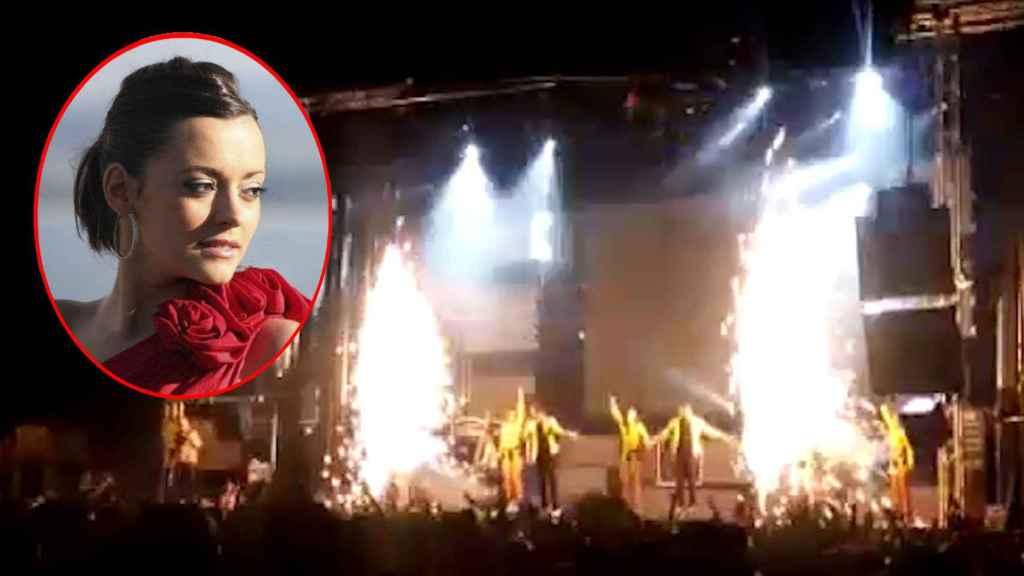 Joana, la bailarina de la Orquesta Súper Hollywood, murió al explotar pirotecnia.