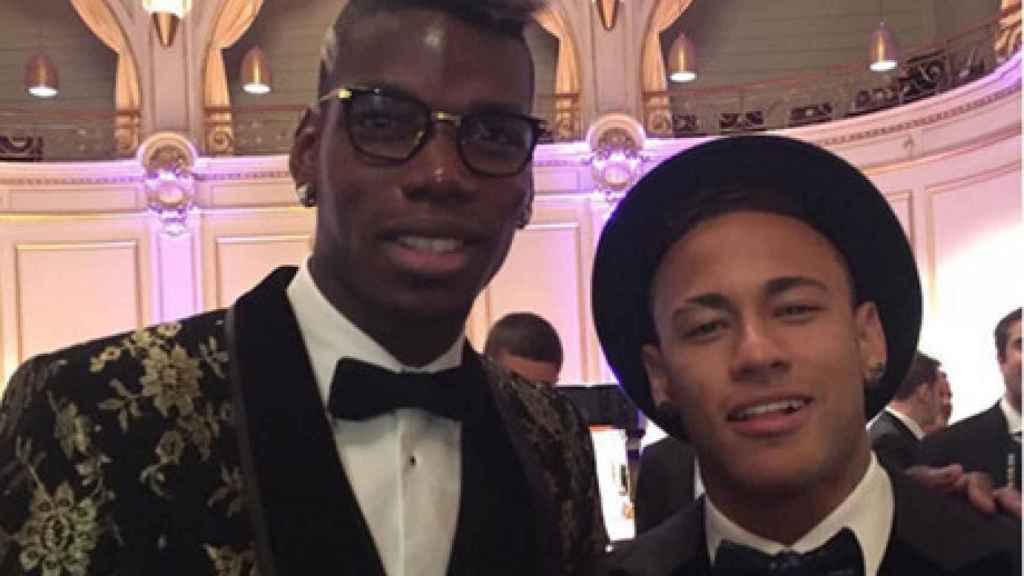 Pogba y Neymar, en una gala
