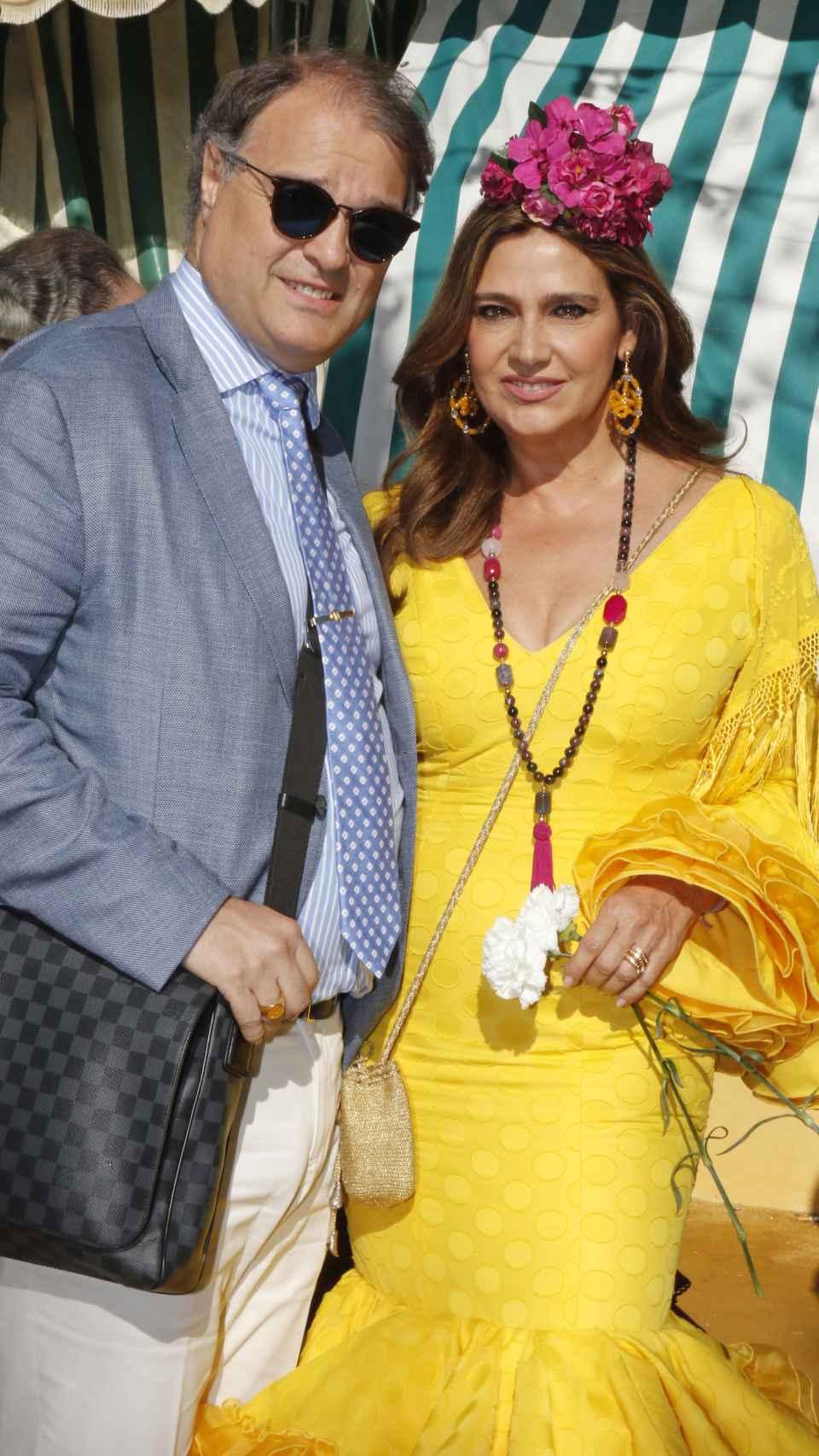 Fabio Mantegazza y Marina Danko durante la feria de abril de 2016.